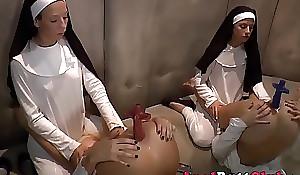 Nun ass toyed overwrought mongrel