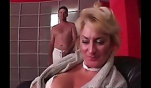 Well-endowed Grandma is getting her pussy stuffed