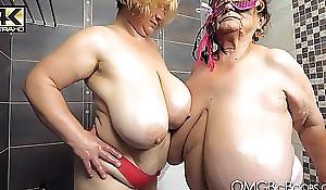 2 patriarch gentlefolk with huge tits