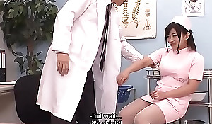 Doctor shows his nurse how to squirt united with these coition toys