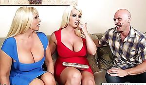 Busty alura jenson have sex in Threesome