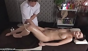 Japanese rub down sex beside pulchritudinous pet