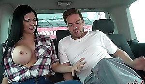 Ryan Ryder convince youthful innocet sweet Jasmine Jae nearby have a passion fro driving fore-part