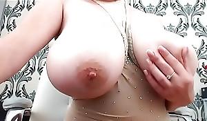 Crestfallen mummy shows her huge boobs mainly video chin-wag