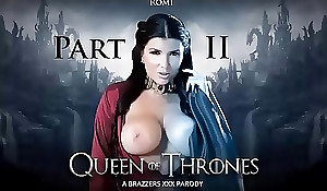Brazzers - Queen Be incumbent on Thrones Part 2 (A XXX Parody) Romi Squirt porno peel  Game Be incumbent on Chair