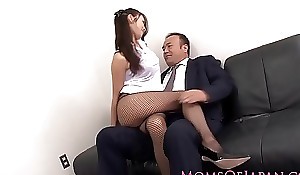 Japanese milf far nylons fucked handy meeting