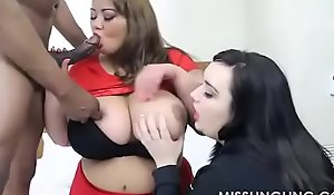 Dominate bbw miss ling ling helps curvy quinn give bbc