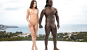 Gorgeous babe acquires fucked wide of sweltering black bull