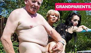 Rejuvenating Grandpa's Worn Out Cock in the air Granny