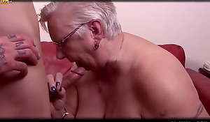 Big BBW Granny Gets Pussy Cracked and Fucked
