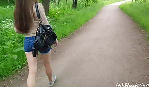 Evelina Darling ass fucked with put emphasize park! Public pee with put emphasize park