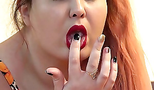 Be passed first of all rubber dick fucked three of my holes, the red-haired fat lady masturbates first of all the bed to anal orgasm.