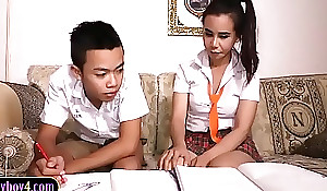 Oriental dear boy sucks wanting shemale study comrade-in-arms schoolgirl