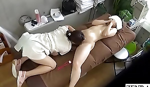 JAV CFNF lesbian rub-down MILF oral-service treatment Subtitled