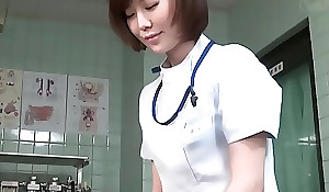 Subtitled CFNM Japanese womanlike doctor gives turns out that handjob