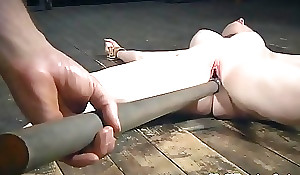 Restrained sub played at the end of one's tether imperturbable maledom
