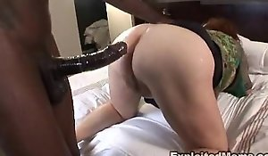 Beamy full-grown plumper receives ass screwed approximately interracial anal videotape