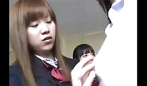 Japanese school woman time delay machinery