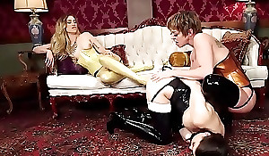 Lesbian spitfire goddess with regard to groping anal invasion fucks subs