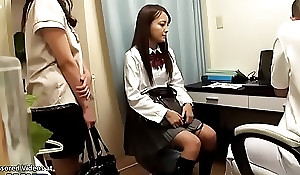 Japanese 18yo schoolgirl rub-down unexpected end